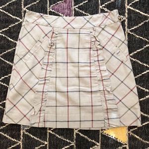 ♡ Adorable Anthropologie Plaid Ruffled Skirt 12 ♡